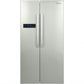 lec american fridge freezer in silver